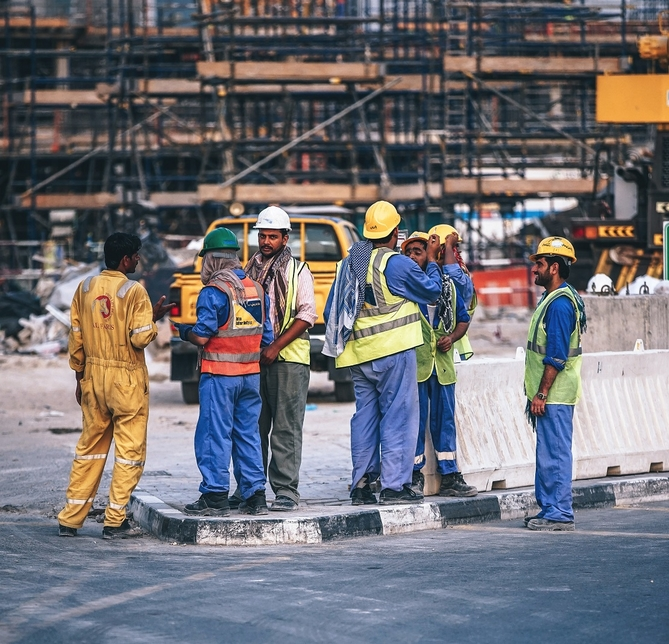 The UAE's midday work ban aims to safeguard worker health [representational].