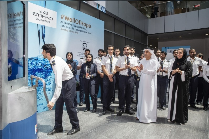Etihad will fund the construction of 30 water wells in Africa.