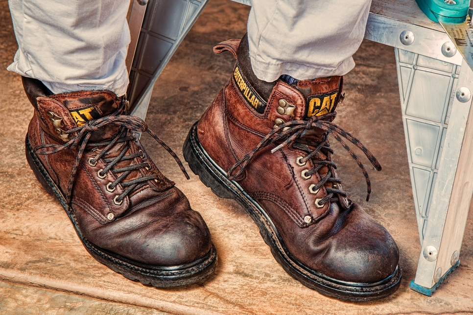 Caterpillar is known for the manufacture of PPE such as work boots.