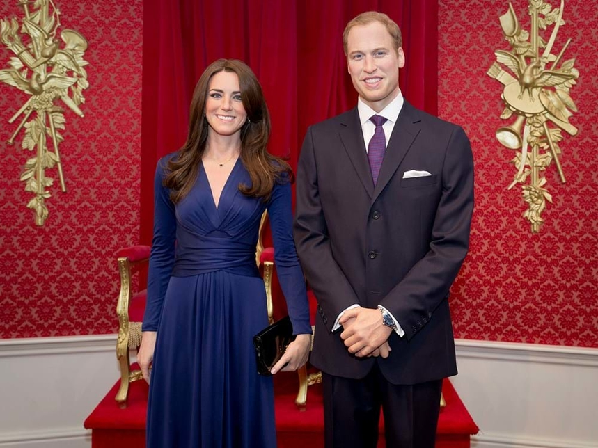 The Duke and Duchess of Cambridge at Madame Tussauds London.