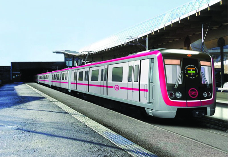 Pink Line is part of India's Delhi Metro.