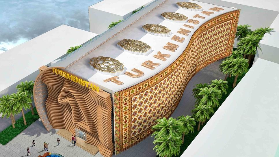 Expo 2020 Dubai's Turkmenistan Pavilion.