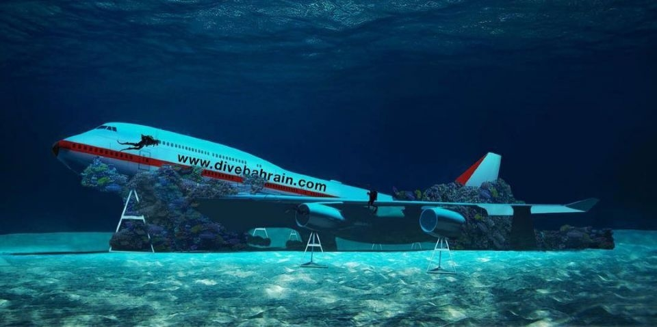 The Boeing 747 will feature at Dive Bahrain.