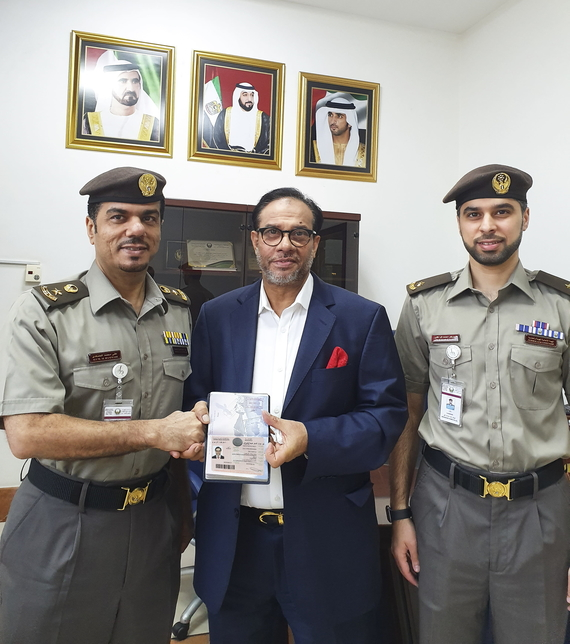 The first Bangladeshi has received the UAE's Gold Card.