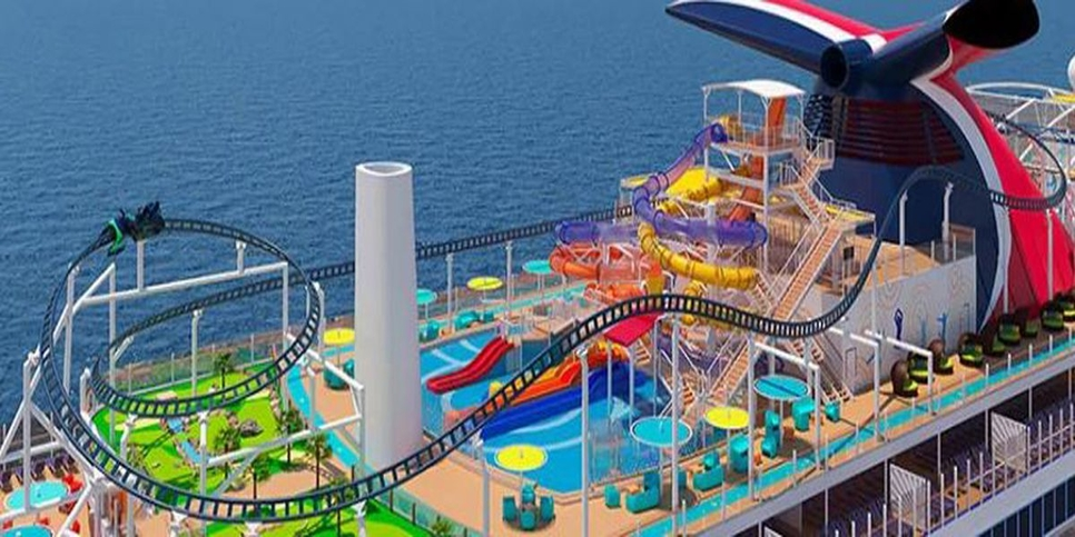 Mardi Gras will feature the world's first rollercoaster on the sea.