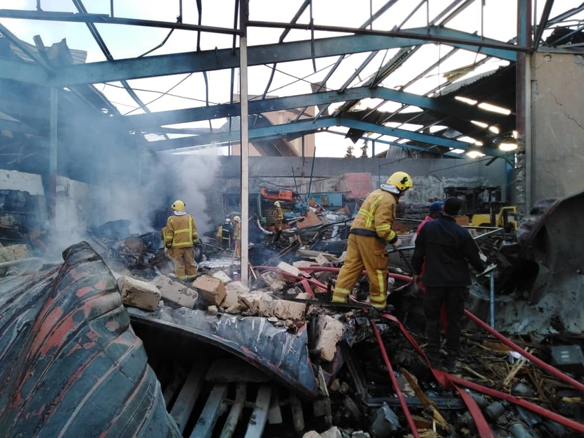 Mellitah's warehouse in Libya was destroyed.