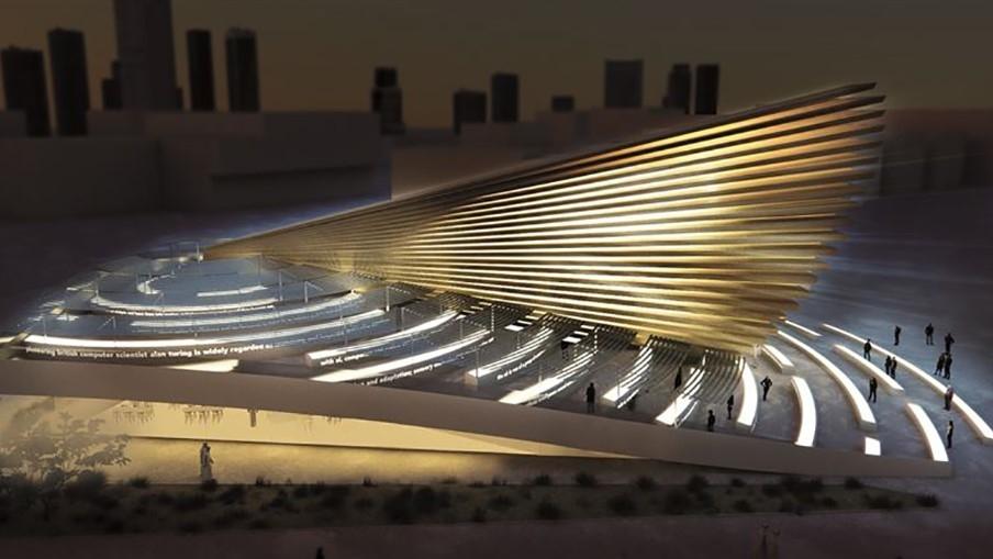 The Stephen Hawking-inspired UK Pavilion of Expo 2020 Dubai.