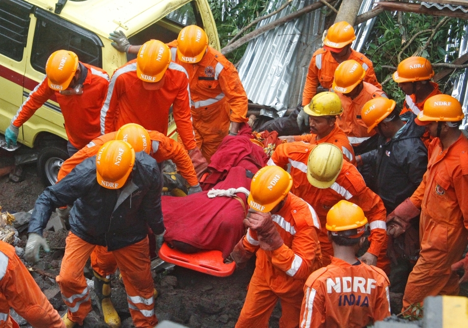 A construction site wall collapsed in India's Pune city.