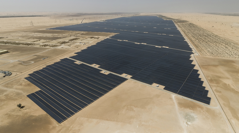 The solar plant will cover an area spanning roughly 20km2 in Al Dhafra.