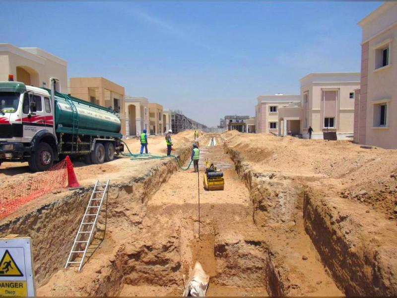The sewage network will serve Sheikh Zayed Housing Complex.