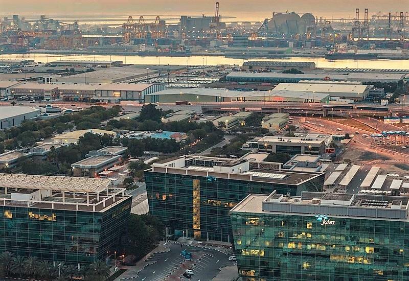Aerial view of Dubai's Jafza.