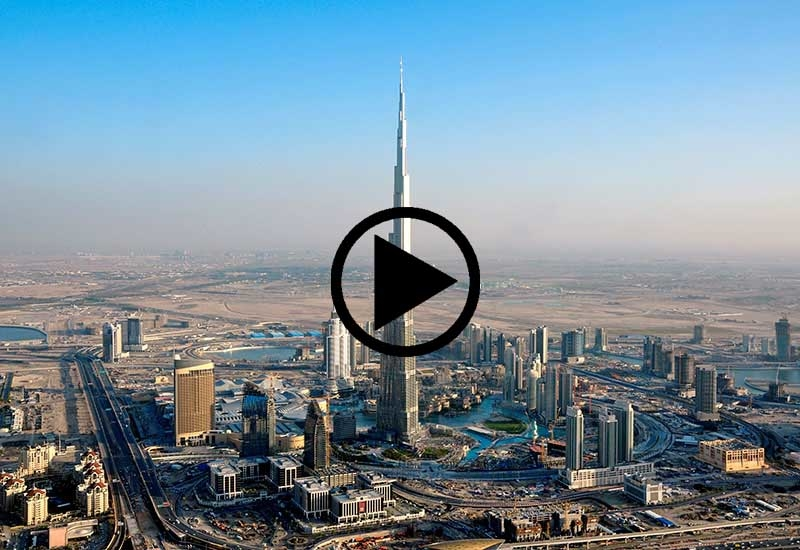 A new Instagram video shows the evolution of Downtown Dubai.