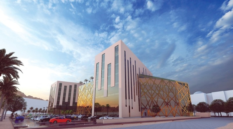 The Knowledge Oasis Muscat 6 building in Muscat.