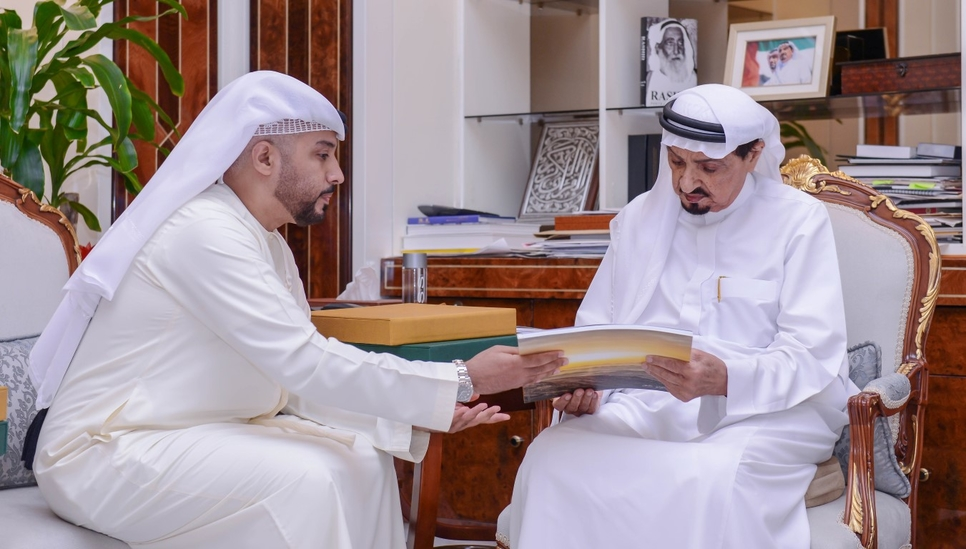 The Ajman Ruler was presented the plan.