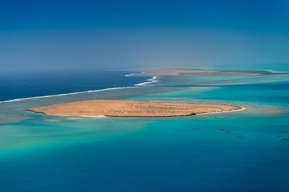 The Red Sea Project site in Saudi Arabia.