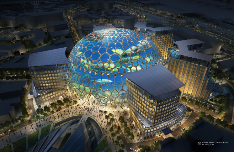 Al Wasl Plaza's dome will be a projection surface.