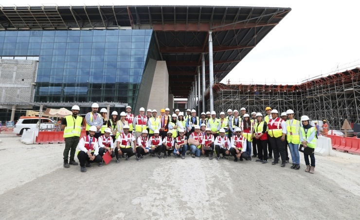 Bahrain is training staff on its new terminal building.