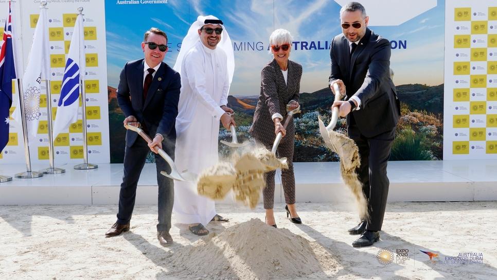 Ground has broken on Expo 2020 Dubai's Australia Pavilion.