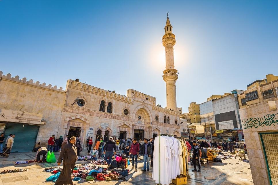Al Husseini Mosque in Amman, Jordan.