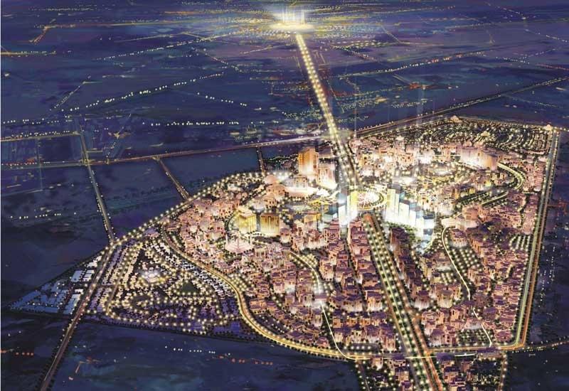 Aerial view of KEC in Madinah, Saudi Arabia.