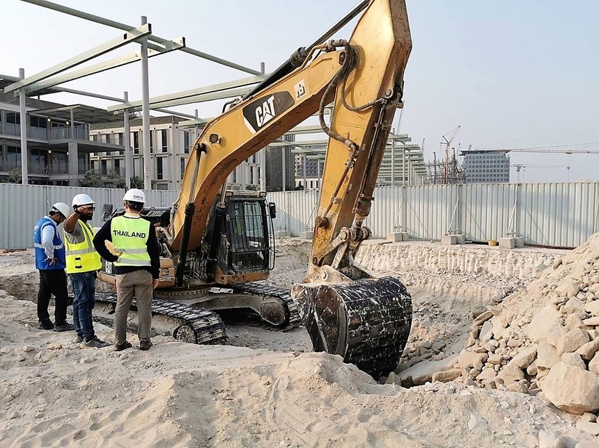 Construction is under way on Expo 2020 Dubai's Thai pavilion.