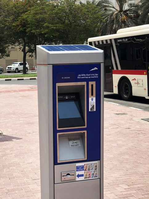 RTA has fitted Nol top-up machines.