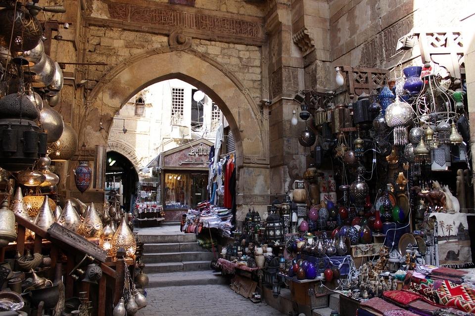 Egypt is rebuilding its fire-hit market [representational].