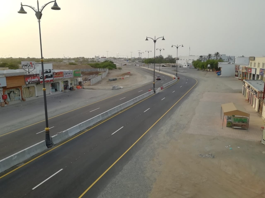 The new road in Al Batinah.