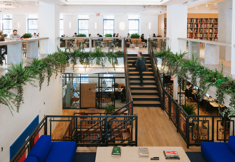 We Work's HQ in New York, US.