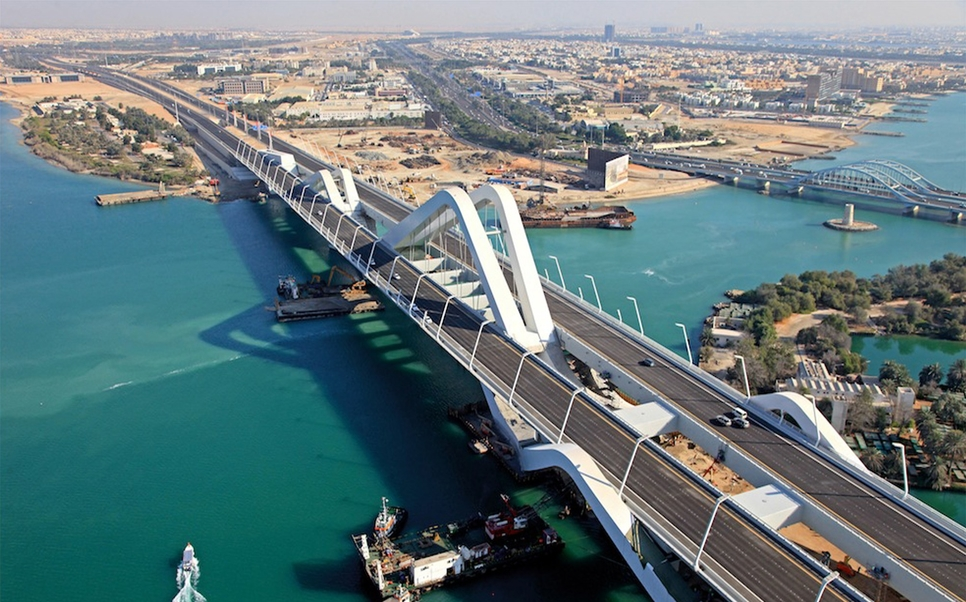 Sheikh Zayed Bridge, Abu Dhabi.