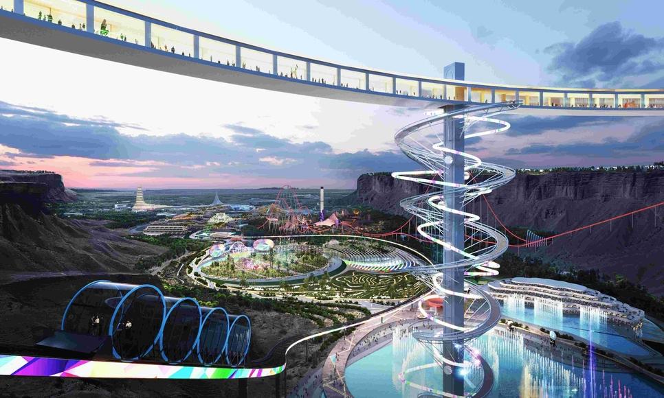 Saudi Arabia's Qiddiya gigaproject spans 334km2.