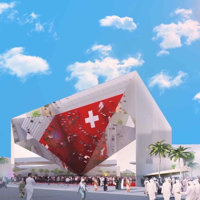 Expo 2020 Dubai's Switzerland Pavilion.