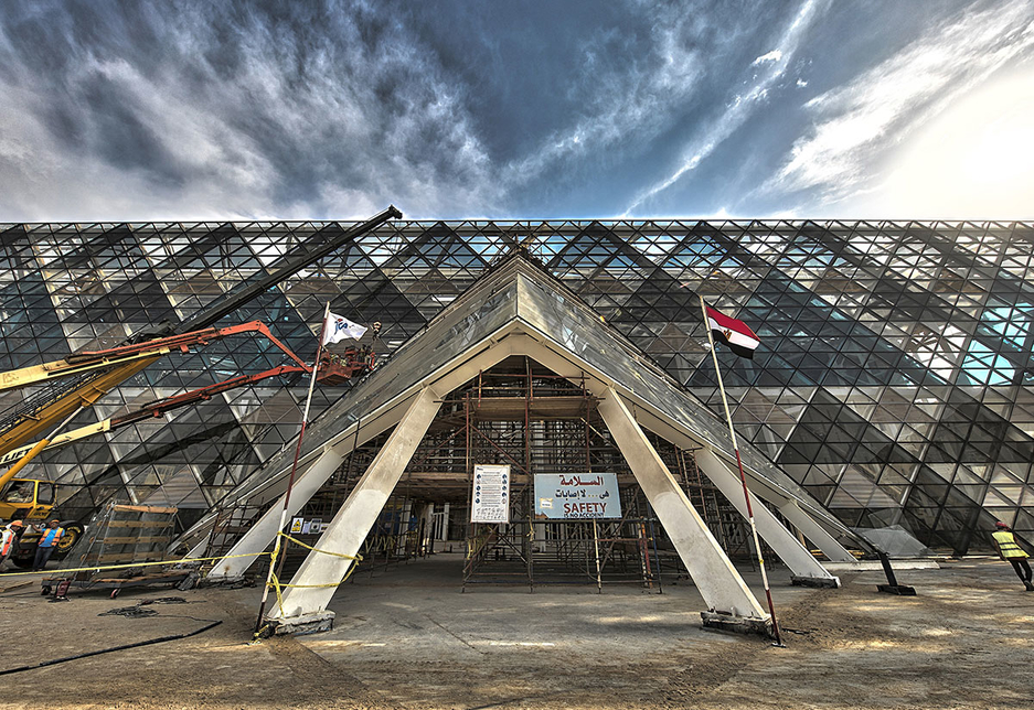 Orascom Construction is building the Grand Egyptian Museum alongside BESIX [representational]