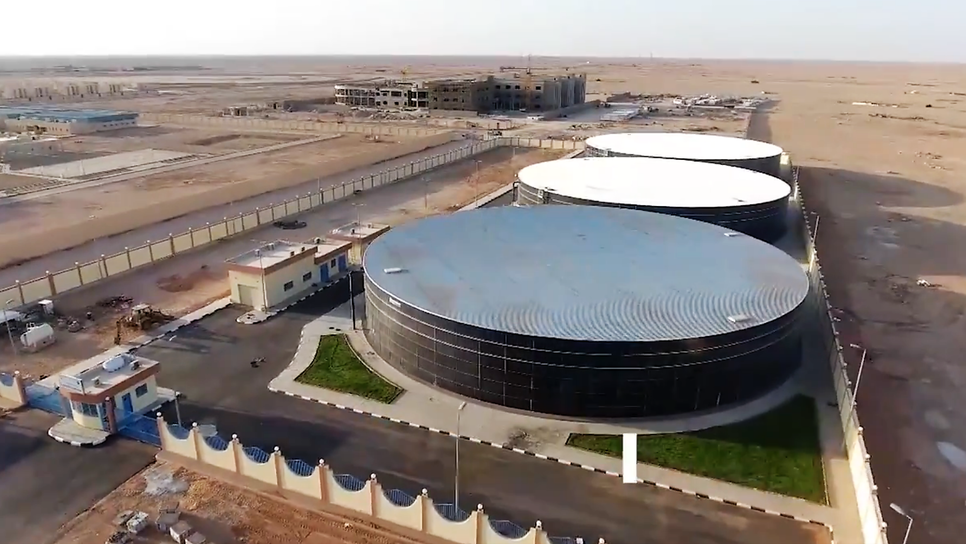 The  water reservoir has a total capacity of 54,000m3.