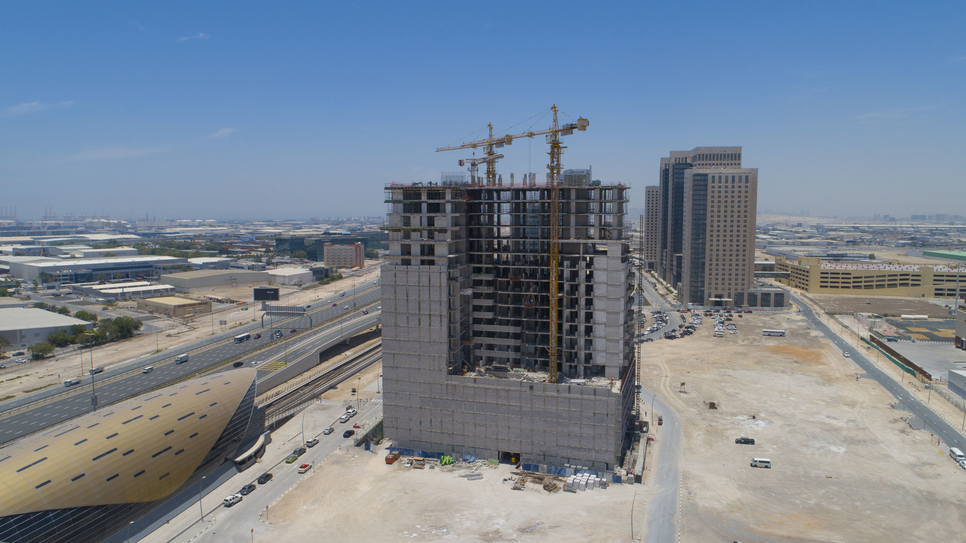 Azizi Aura is the only freehold residential building in Downtown Jebel Ali.