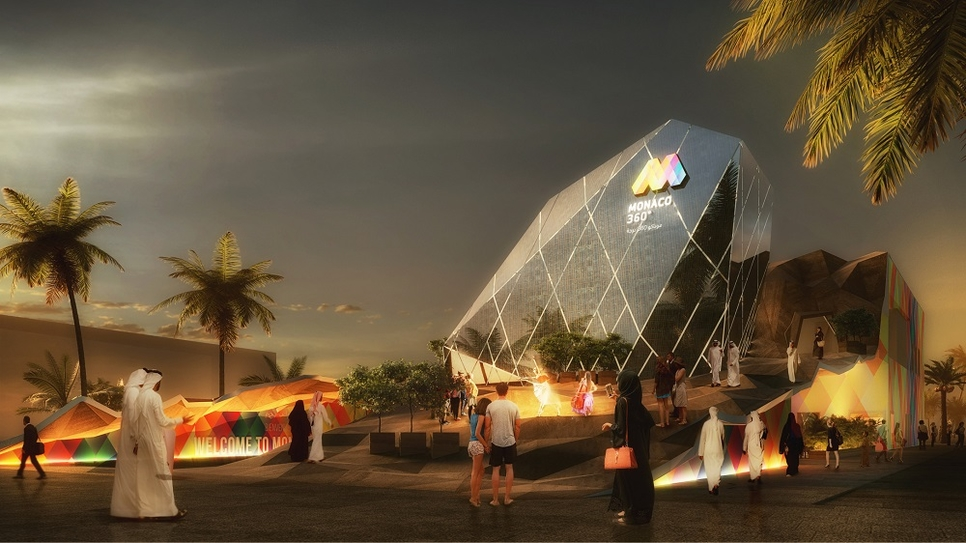 Monaco's national pavilion will be located in the Opportunity District.