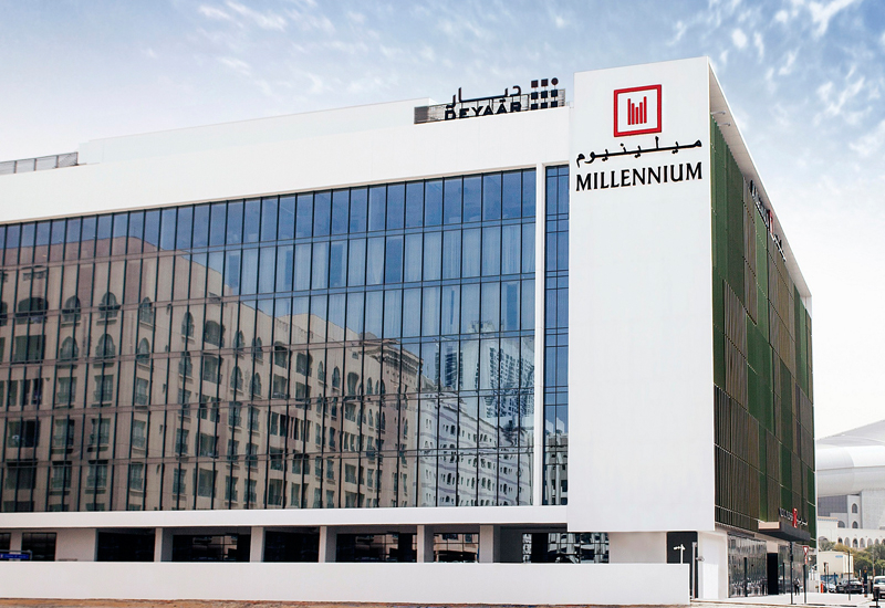The hotel is located in Dubai's Al Barsha.