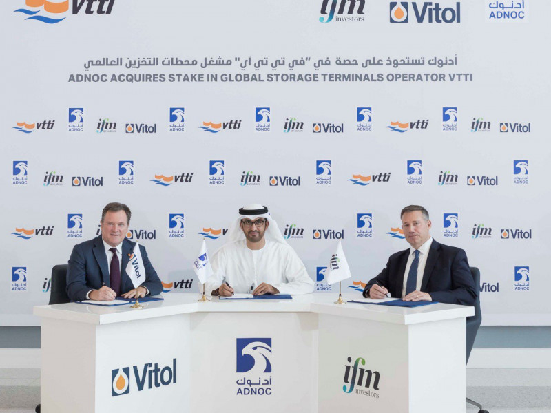 Adnoc owns stake in VTTI alongside Vitol and IFM GIF.