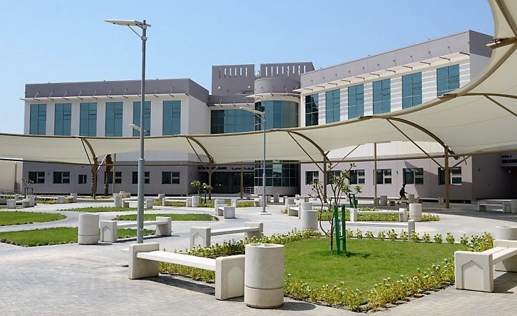 The school features four academic buildings.