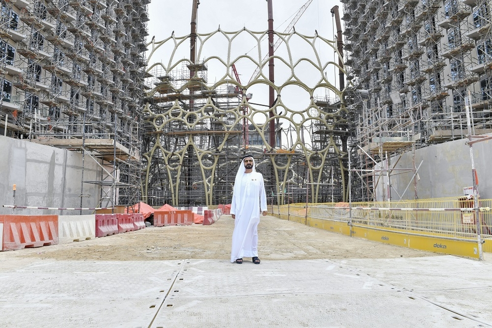 Sheikh Mohammed visited the Expo 2020 Dubai site.