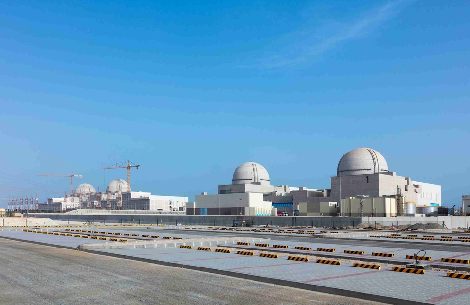 Unit 1 of the Barakah Nuclear Energy Plant has dispatched its first batch of clean energy to the UAE's national grid [Image: WAM/ ENEC]