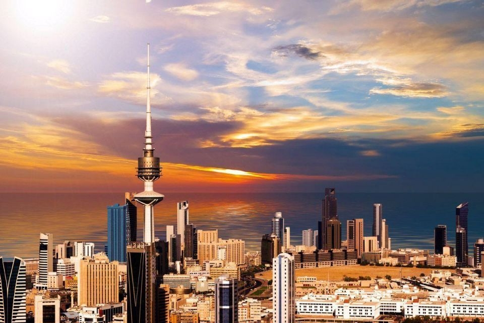 Aerial view of Kuwait City [representational].