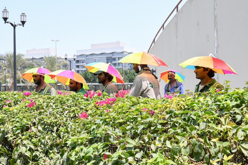 GWU's campaign focuses on outdoor workers in Abu Dhabi.