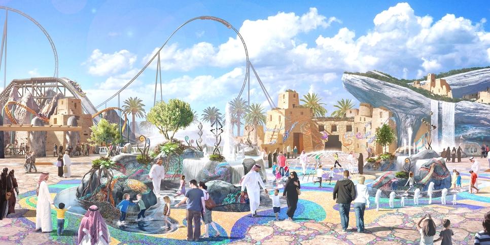A Six Flags theme park will be developed at Qiddiya.