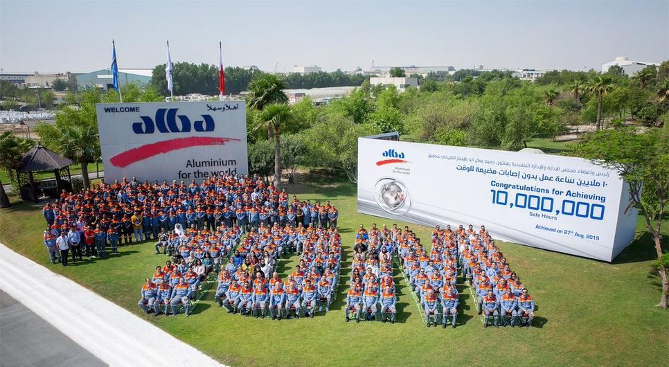 Alba has achieved 10 million LTI-free man-hours.