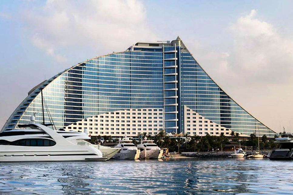 Jumeirah Beach Hotel in Dubai.