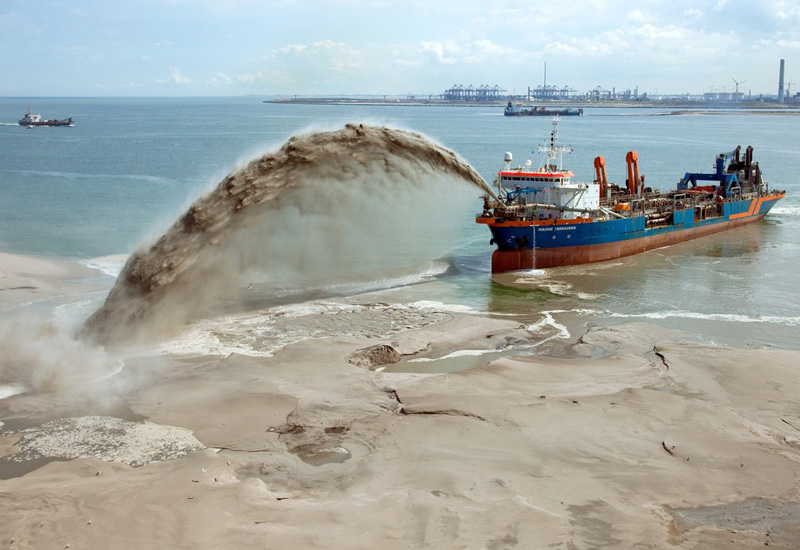Sand extraction has been halted in parts of Bahrain.