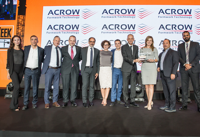 Acrow will be a Category Sponsor for the 2019 Construction Week Awards in Dubai