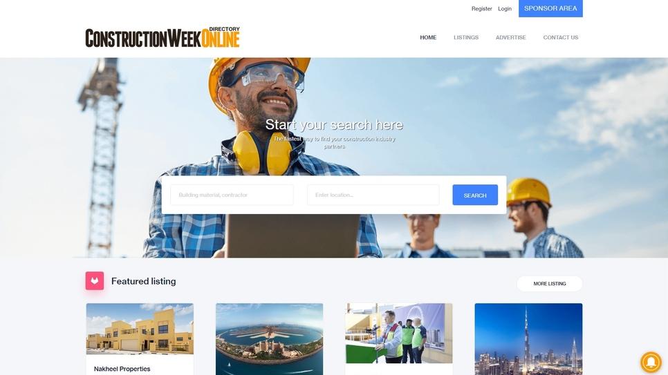 ConstructionWeekOnline Directory has been revamped.