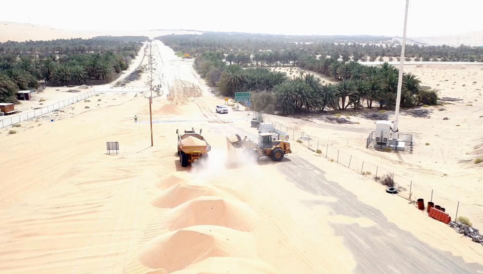 Shah Gas Field-Mezairaa link road.